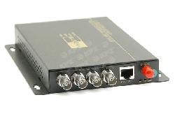 Vysílač 4 VIDEOsignálů po optice SM, 20km