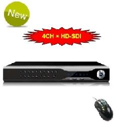 4 kanálový HD-SDI DVR - záznamové zařízení 1080P