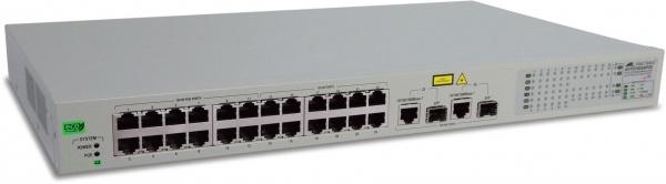 WebSmart Switch 24x 10/100TX (12 POE) + 2x combo Gigabit SFP, PoE 100W