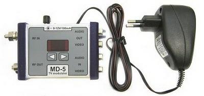 Digitální procesorem řízený TV modulátor